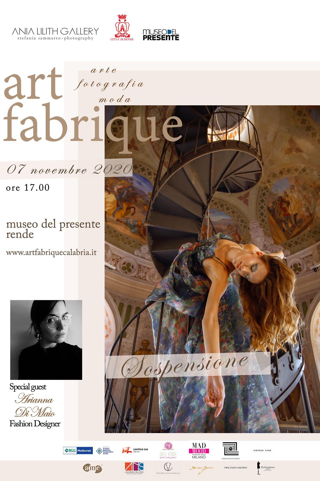 """Arte, fotografia e moda anticonvenzionale nell'evento Art Fabrique """"Sospensione"""".  Il 7 novembre al Museo del Presente"""