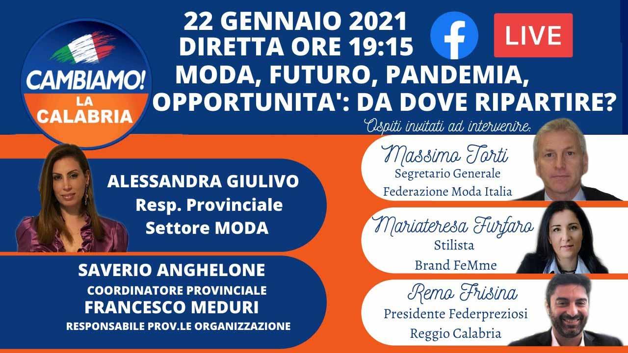 Calabria: Moda, futuro, pandemia, opportunità: da dove ripartire?