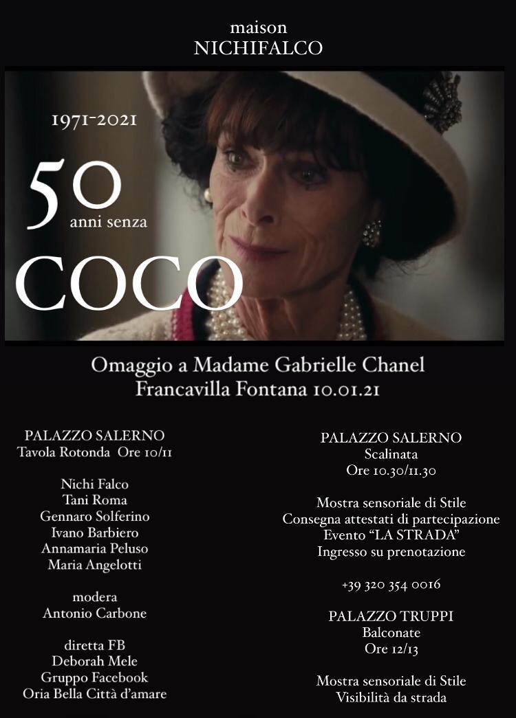 """""""50 anni senza COCO"""": La Maison Nichi Falco organizza una tavola rotonda che mette insieme le arti"""